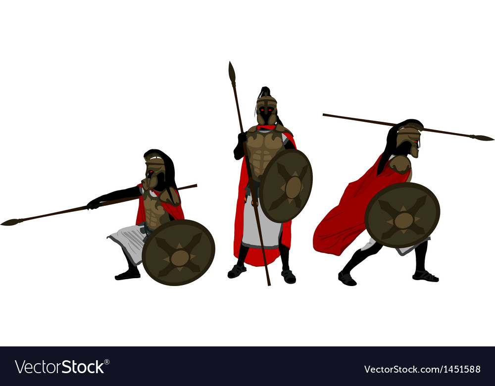 Ancient warriors vector | Price: 1 Credit (USD $1)