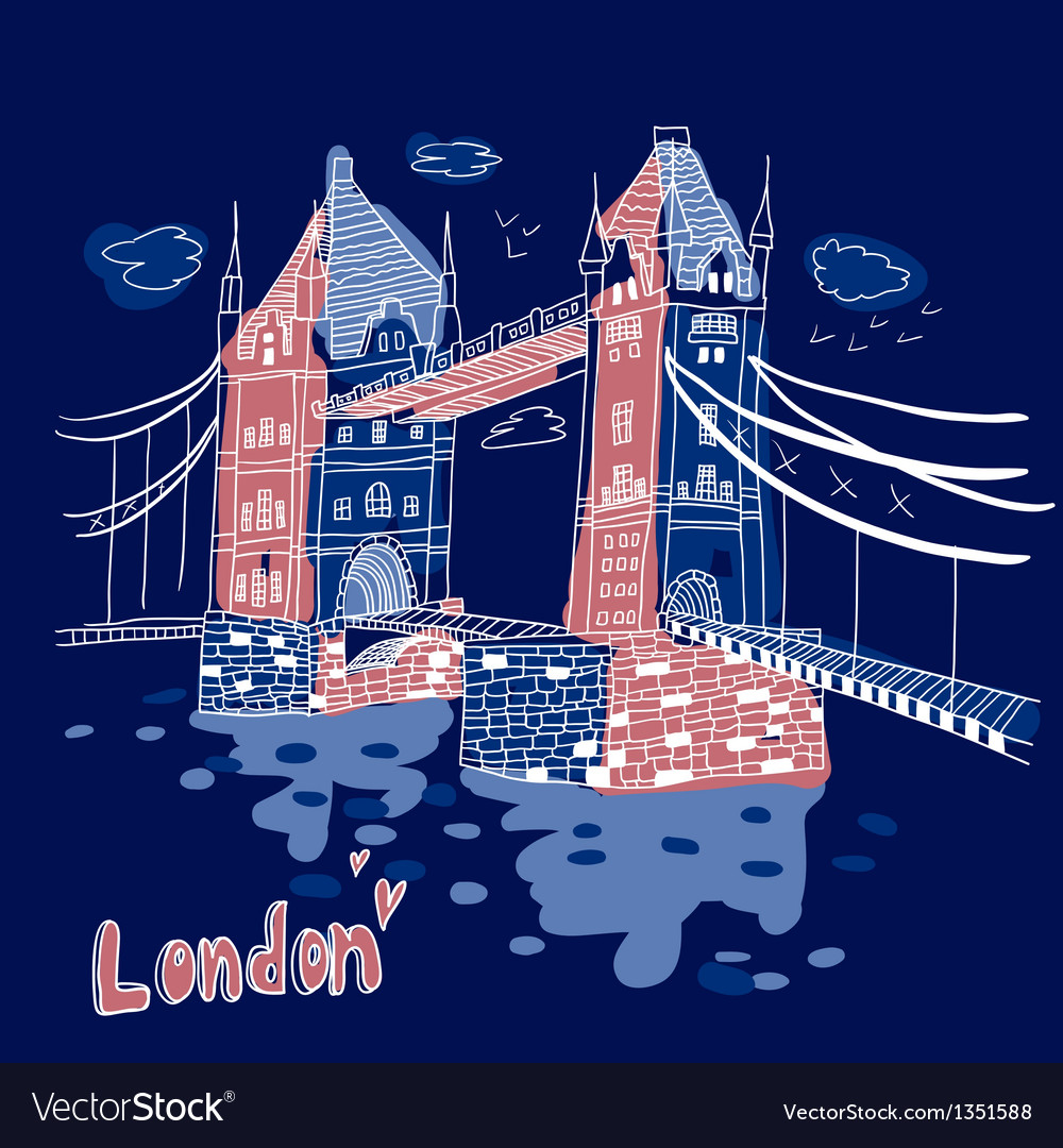 Big ben and house of parliament london uk vector | Price: 3 Credit (USD $3)