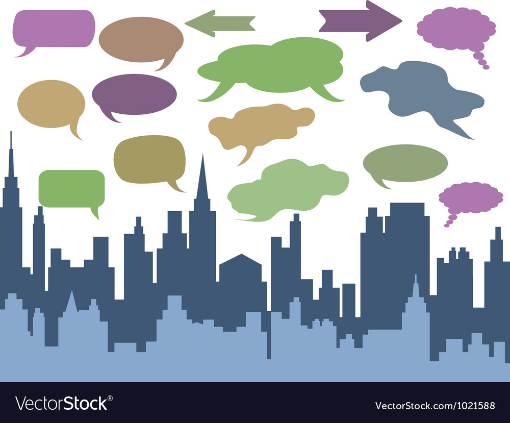City talk vector | Price: 1 Credit (USD $1)