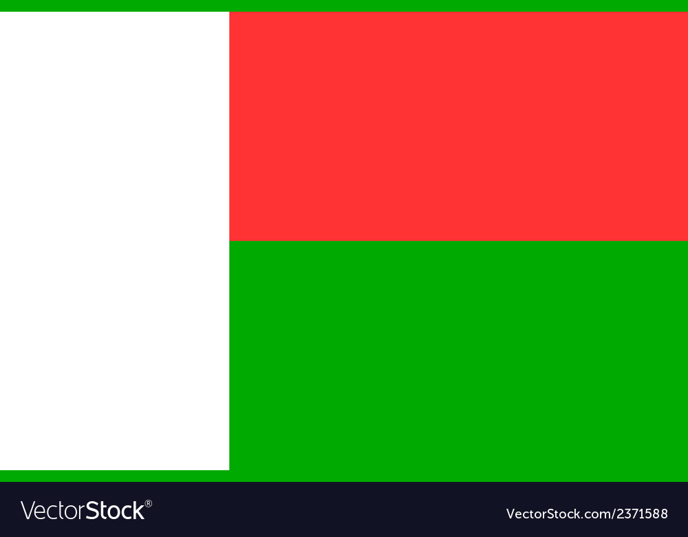 Flag of madagascar vector | Price: 1 Credit (USD $1)