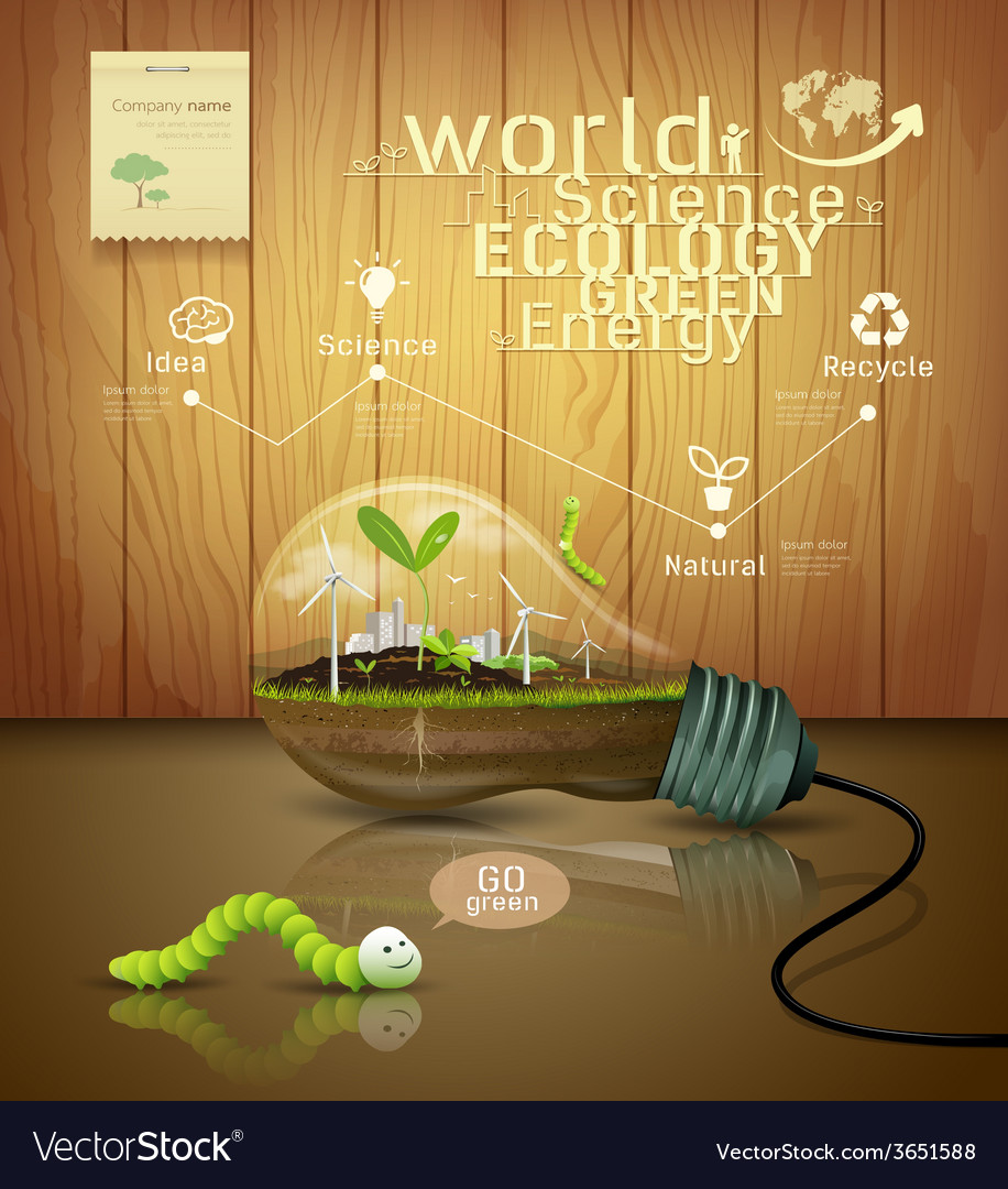 Light bulb ecology concept design vector | Price: 3 Credit (USD $3)