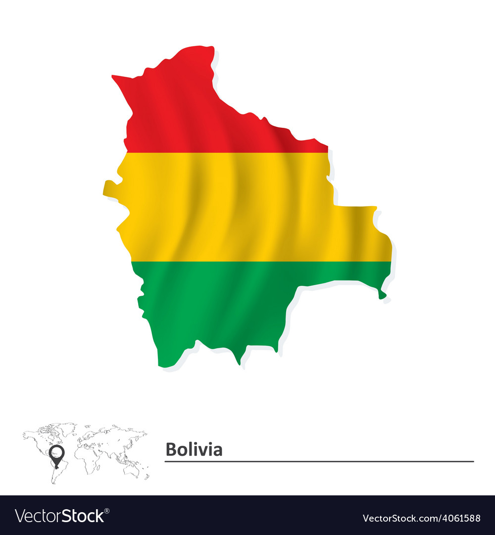 Map of bolivia with flag vector   Price: 1 Credit (USD $1)
