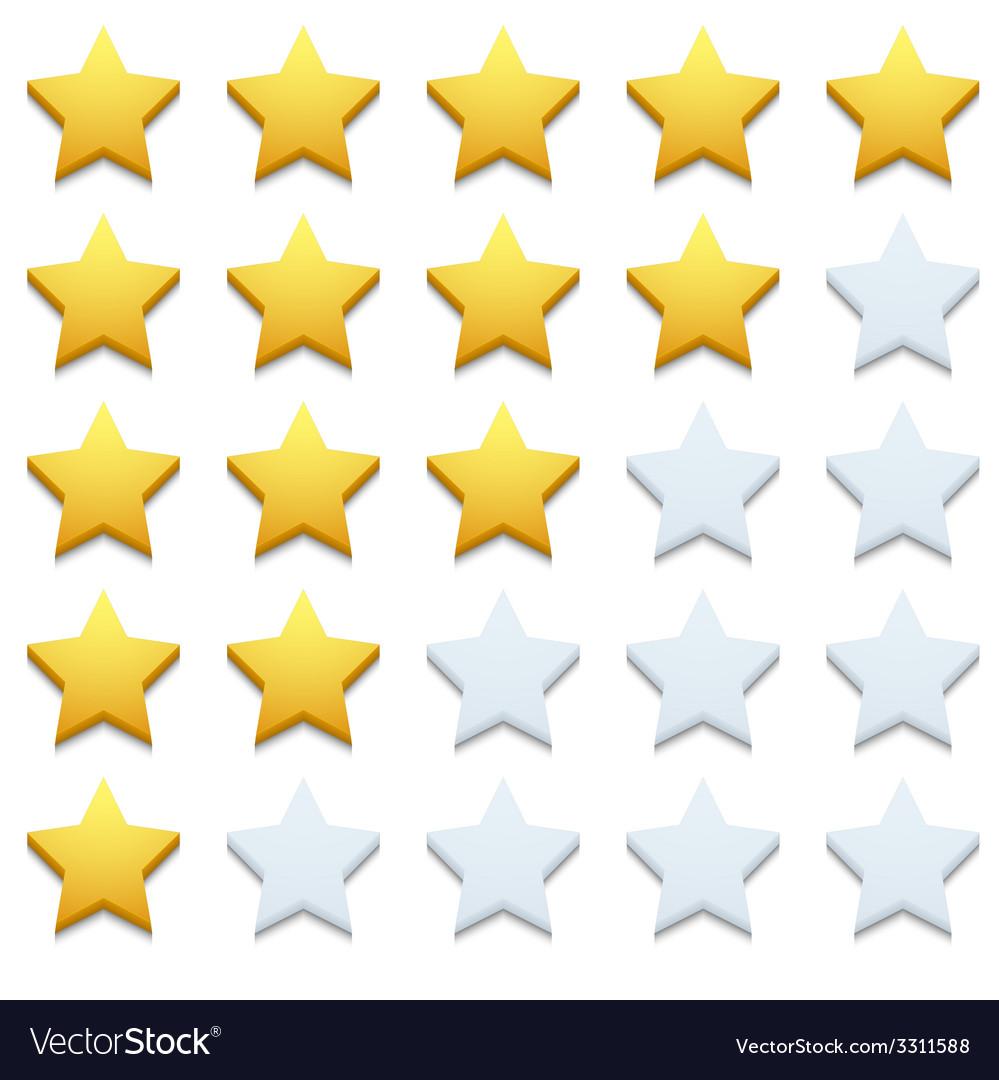 Modern stars icon set on white vector | Price: 1 Credit (USD $1)