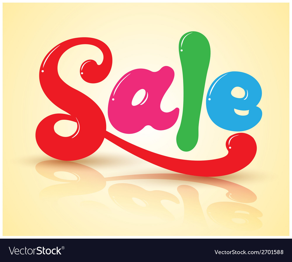 Sale text on shadows vector | Price: 1 Credit (USD $1)