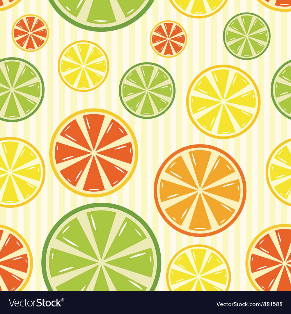 Seamless background with lemon lime orange and vector | Price: 1 Credit (USD $1)