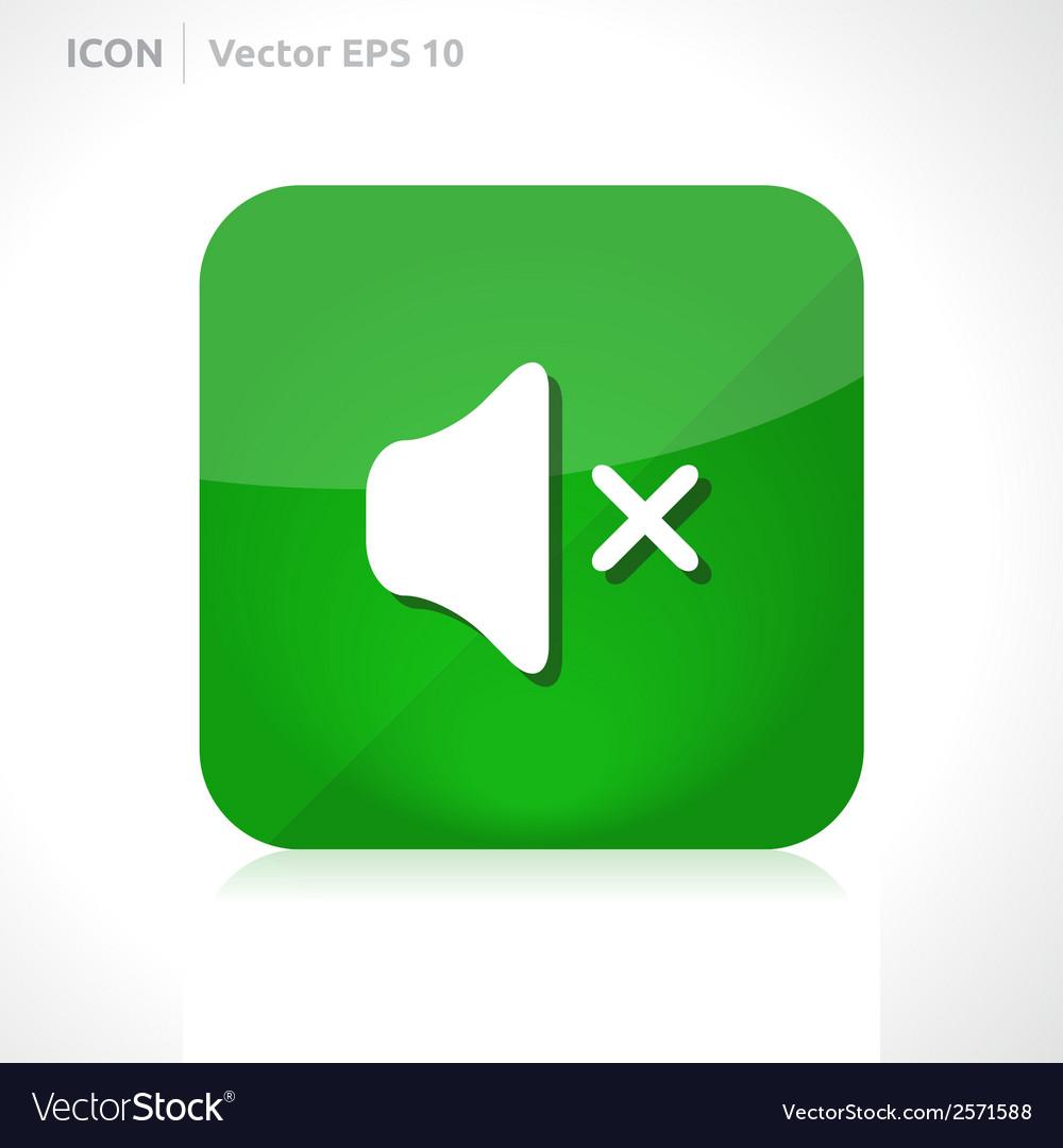 Sound off - mute icon vector | Price: 1 Credit (USD $1)