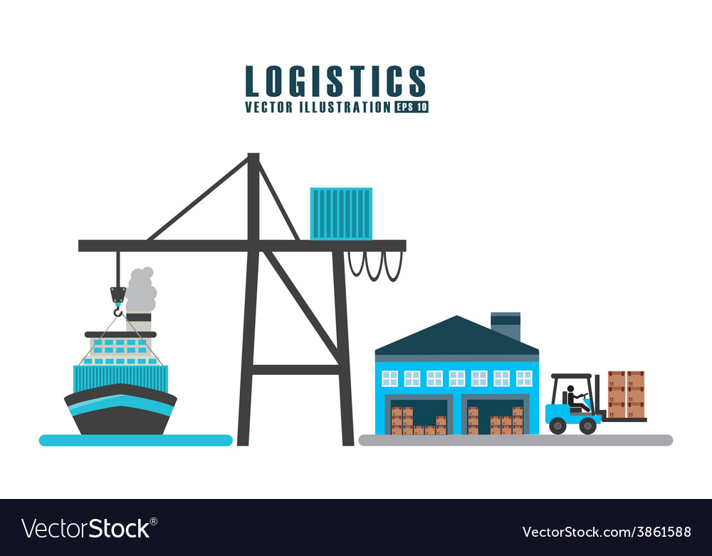 Transport logistics vector | Price: 1 Credit (USD $1)