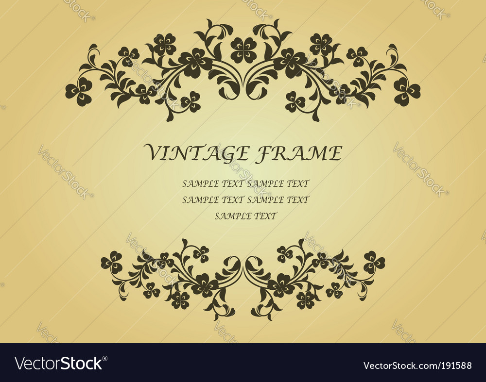 Vintage frame with clover vector | Price: 1 Credit (USD $1)