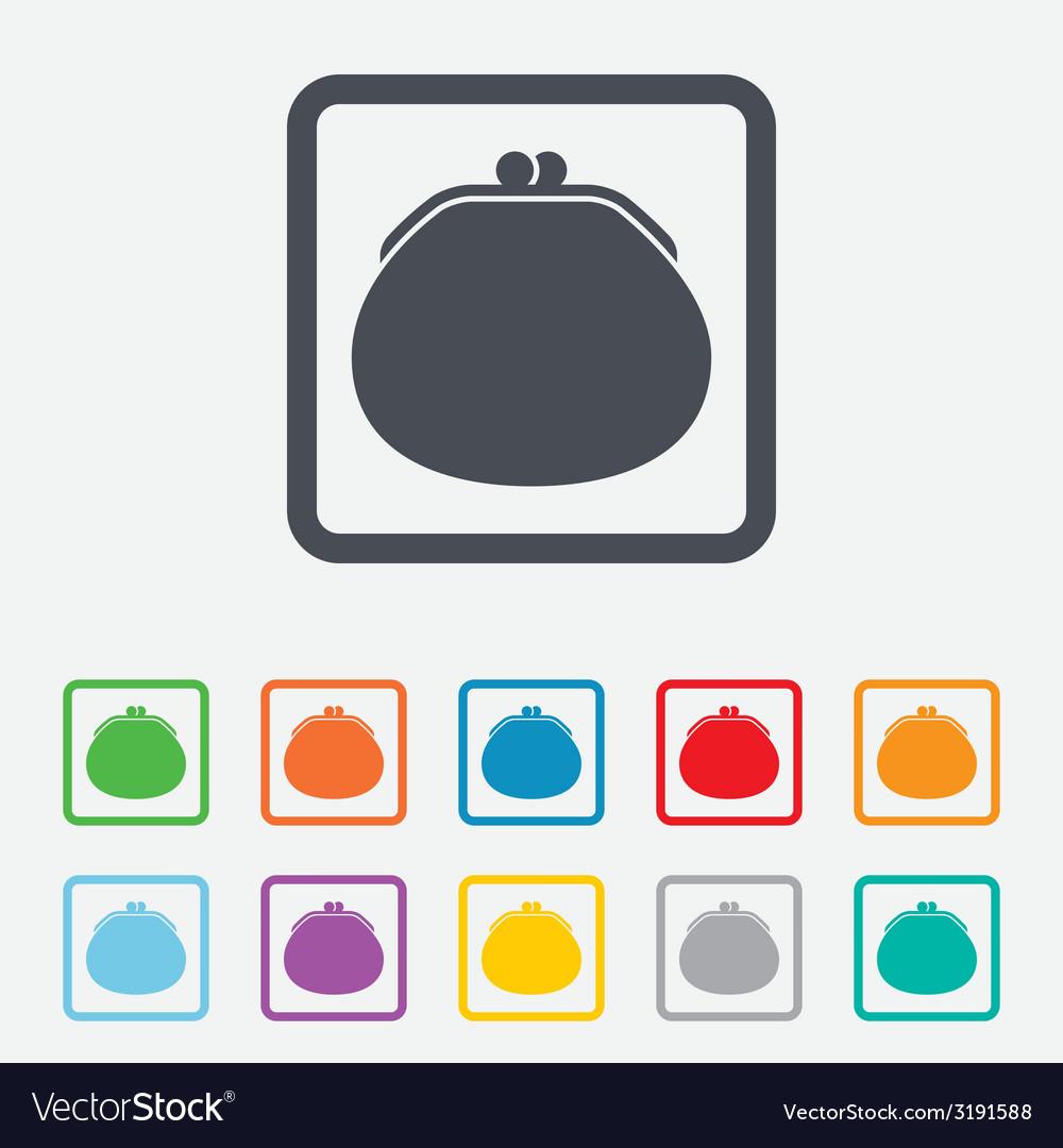 Wallet sign icon cash bag symbol vector   Price: 1 Credit (USD $1)