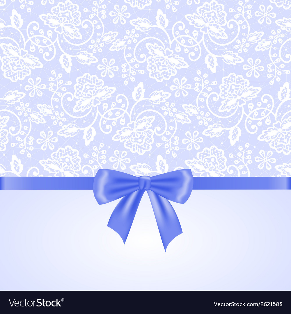 White lace and ribbon bow vector | Price: 1 Credit (USD $1)
