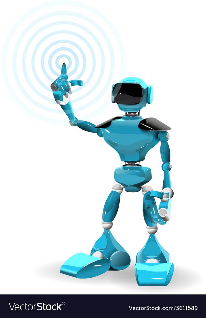 Blue robot vector | Price: 3 Credit (USD $3)