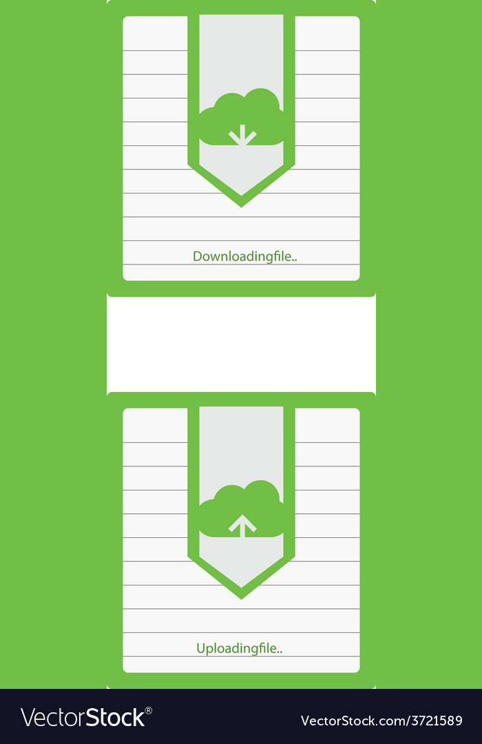 Cloud download and upload icon 6 vector | Price: 1 Credit (USD $1)
