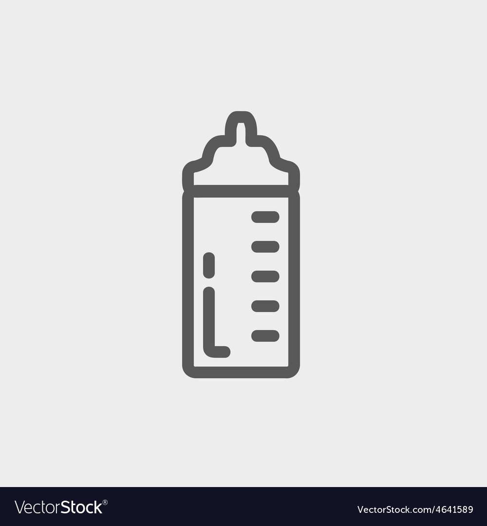 Feeding bottle thin line icon vector | Price: 1 Credit (USD $1)