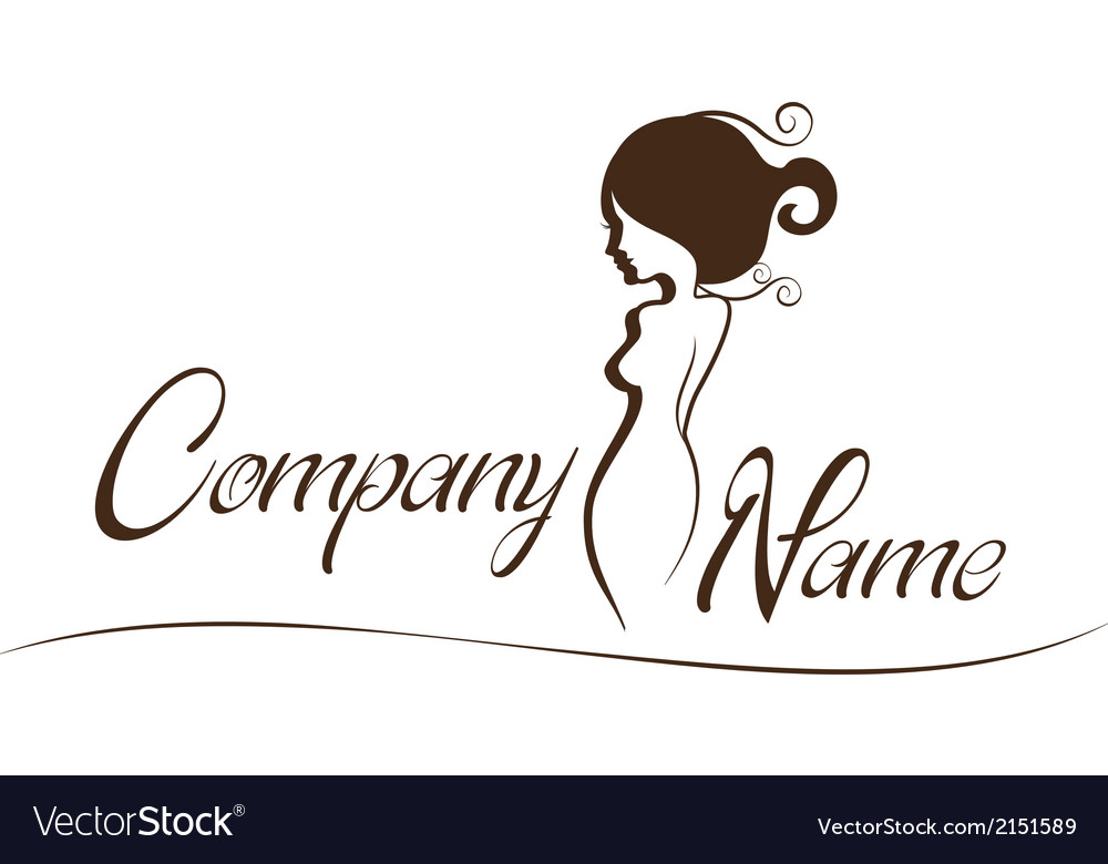 Lady logo vector | Price: 1 Credit (USD $1)