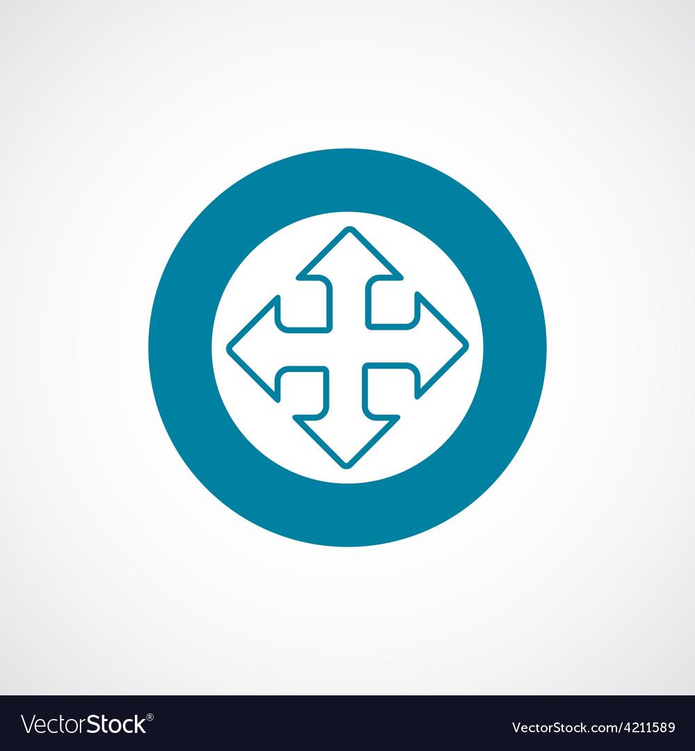 Move icon bold blue circle border vector | Price: 1 Credit (USD $1)