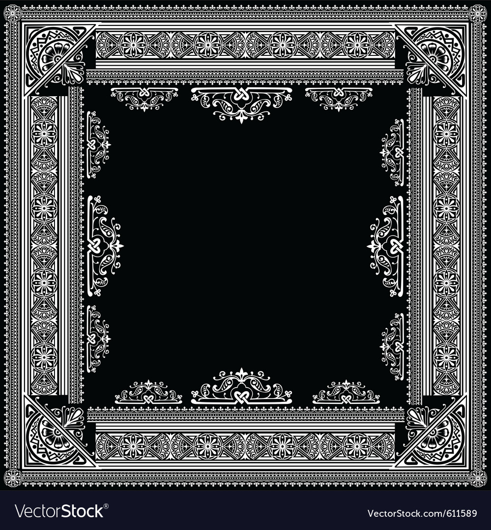 Ornate title frame vector | Price: 3 Credit (USD $3)