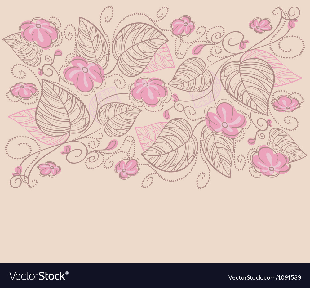 Ribbon florals vector | Price: 1 Credit (USD $1)