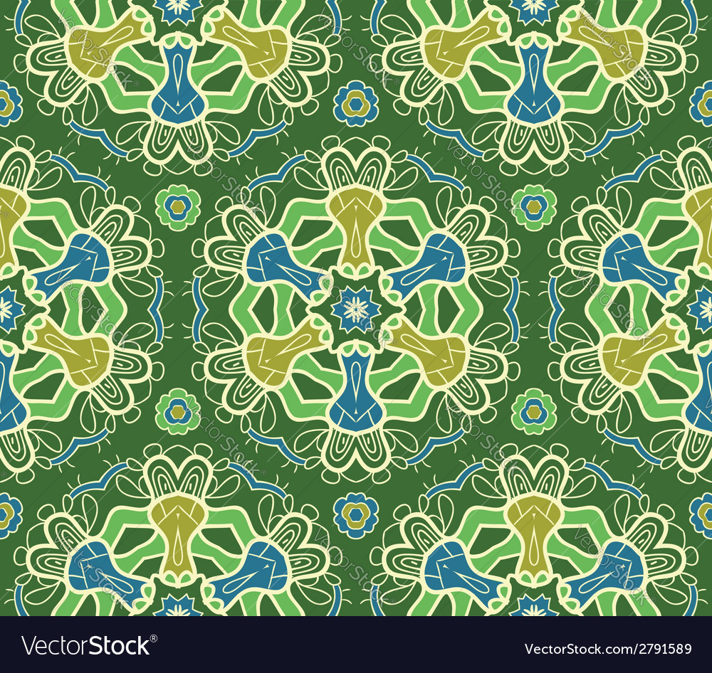 Seamless ornamental pattern vector | Price: 1 Credit (USD $1)
