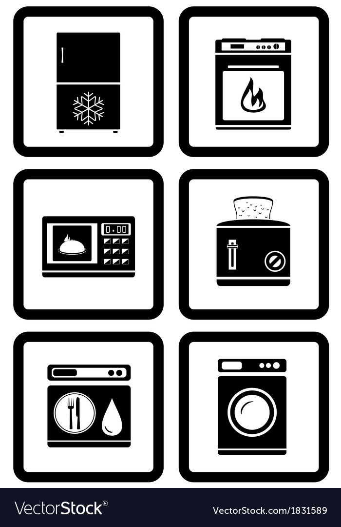 Set of household appliances for home vector | Price: 1 Credit (USD $1)