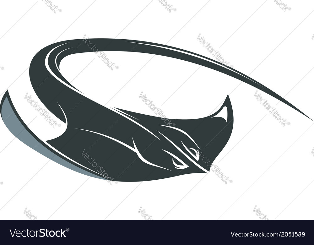 Swimming manta or sting ray vector | Price: 1 Credit (USD $1)