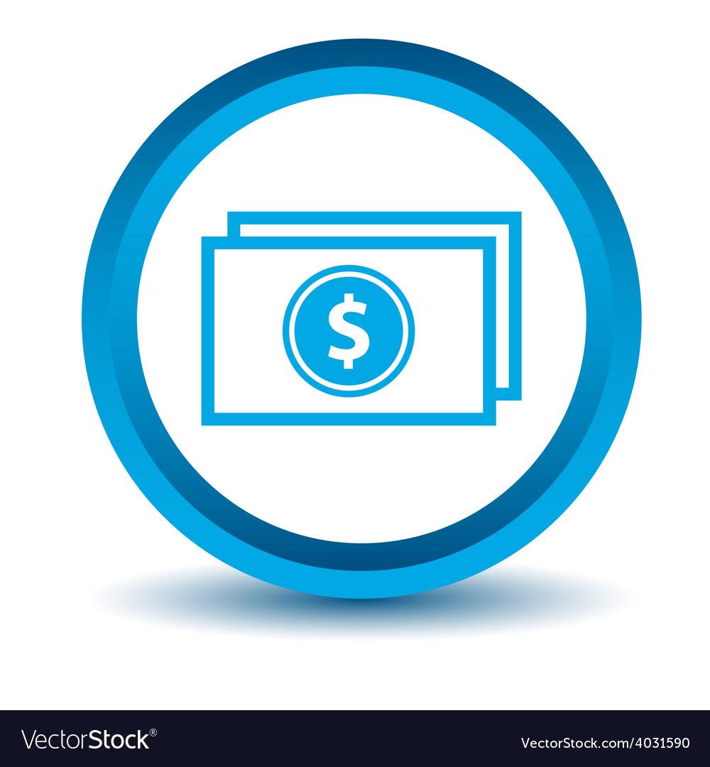 Blue buck icon vector | Price: 1 Credit (USD $1)