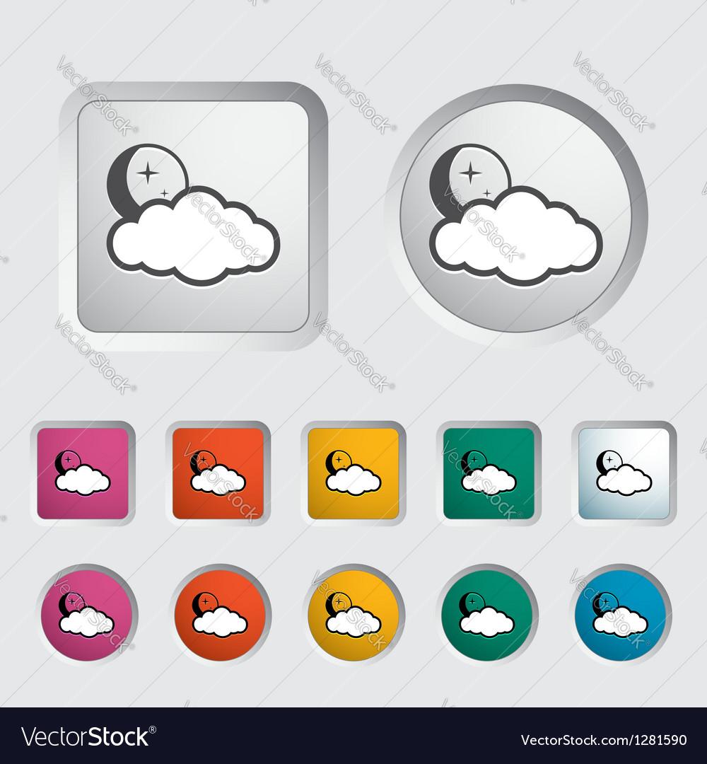 Cloud night vector | Price: 1 Credit (USD $1)