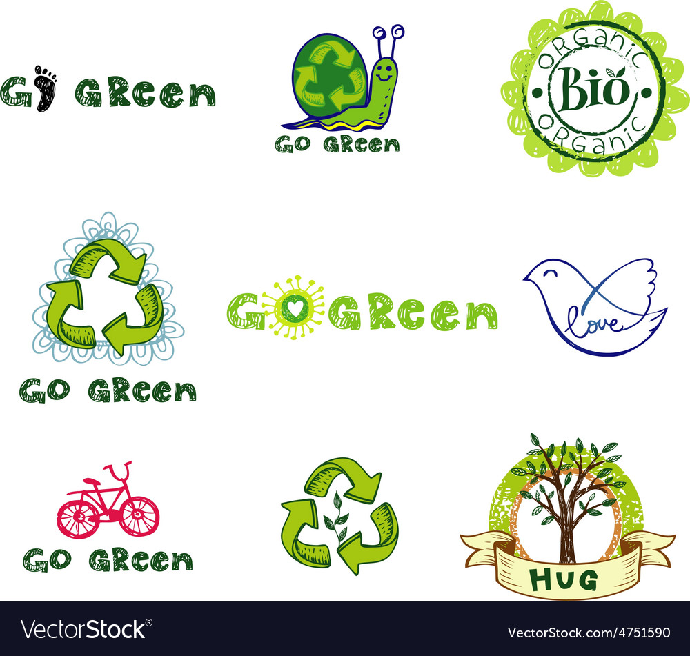 Eco design elements vector | Price: 1 Credit (USD $1)