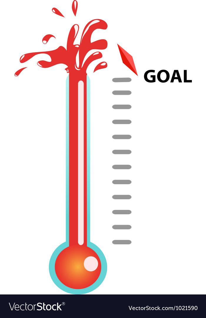 Goal thermometer vector | Price: 1 Credit (USD $1)