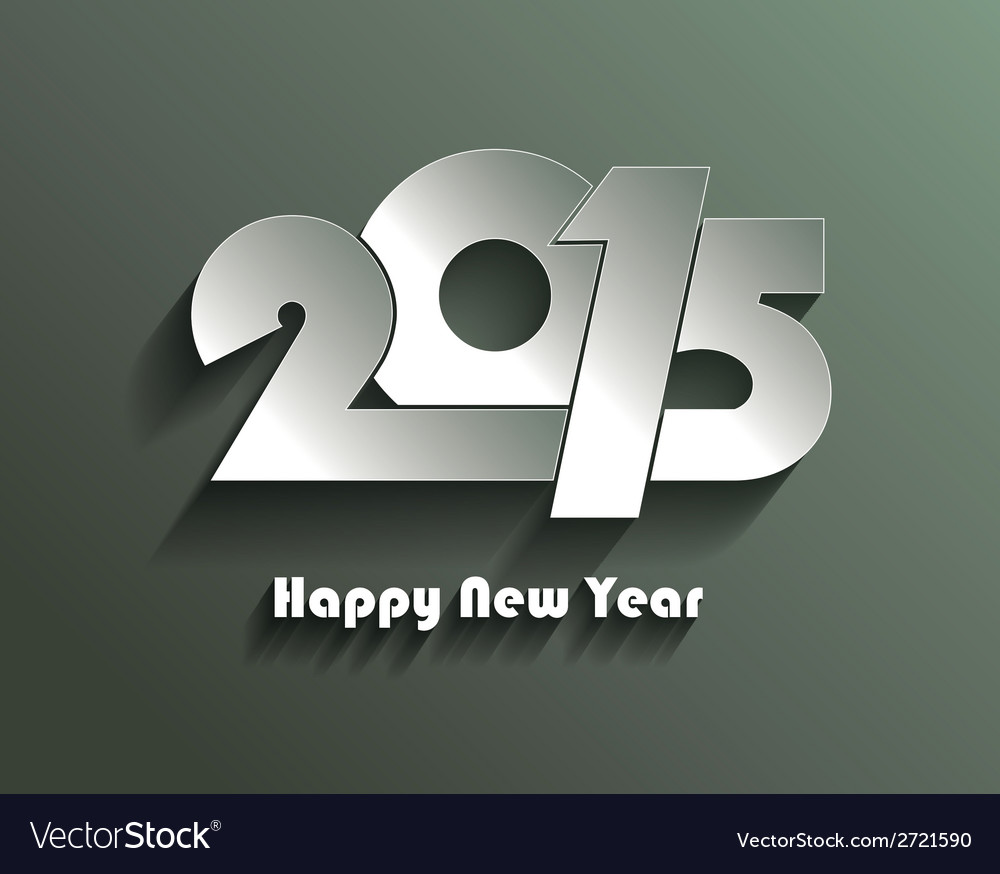 Happy new year 2015 creative greeting card vector