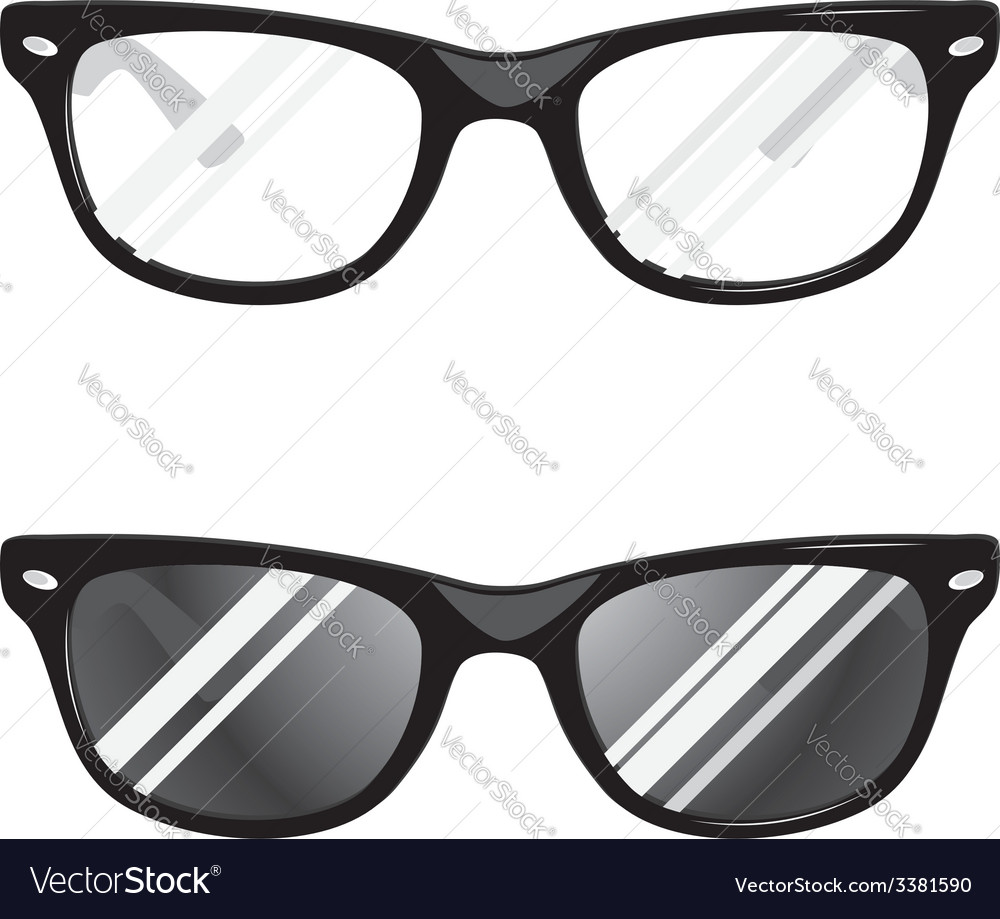 Hipster glasses vector | Price: 1 Credit (USD $1)