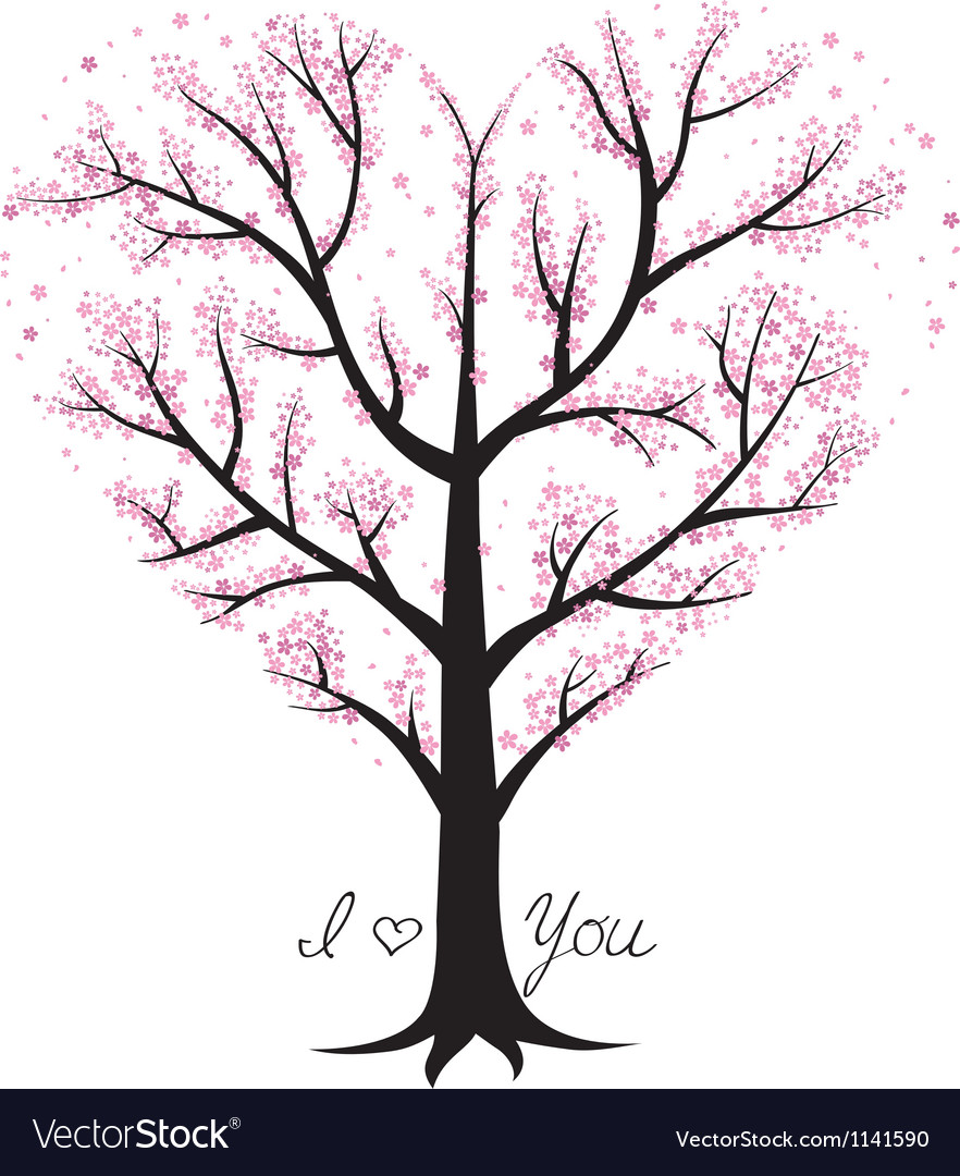 Love tree heart shaped vector | Price: 1 Credit (USD $1)