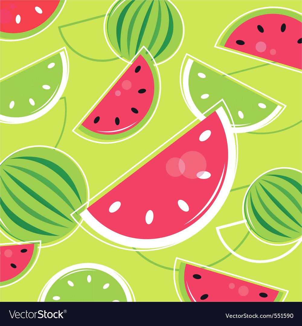 Melon summer background vector | Price: 1 Credit (USD $1)