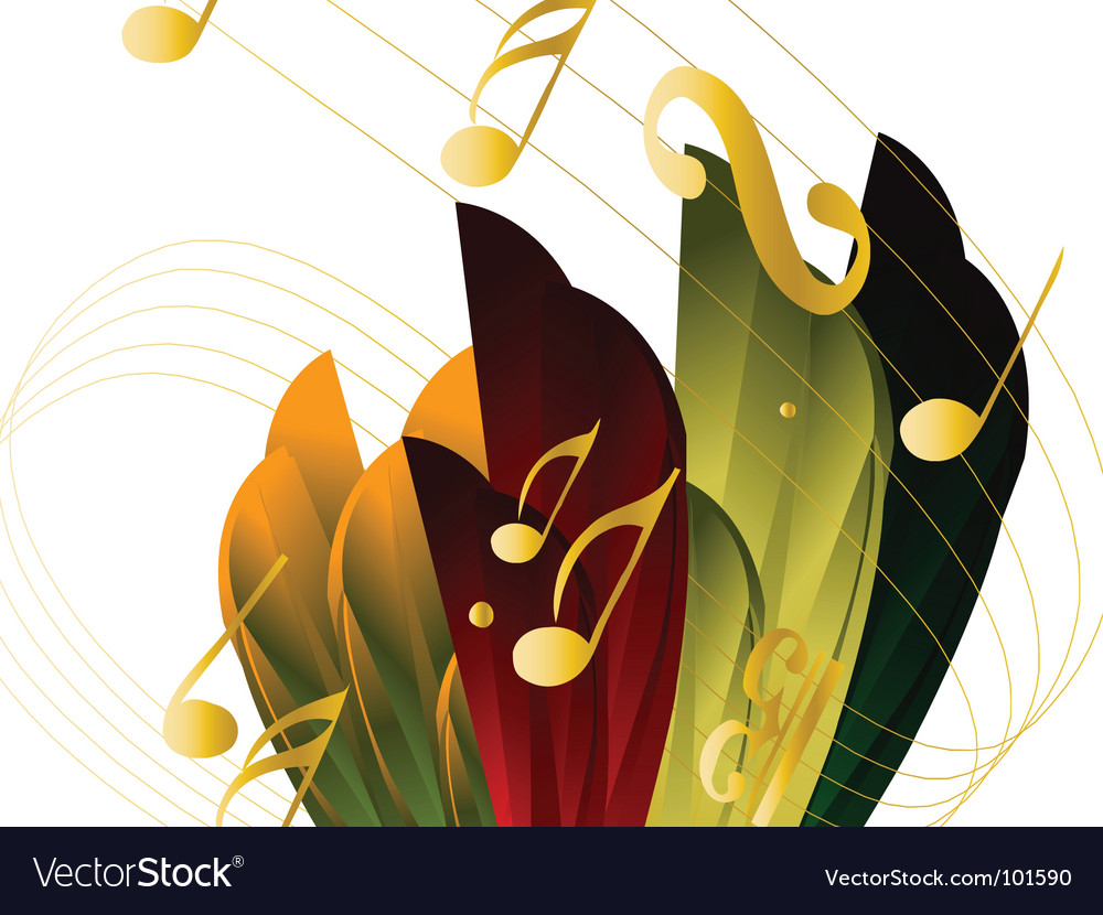 Musical nature vector | Price: 1 Credit (USD $1)