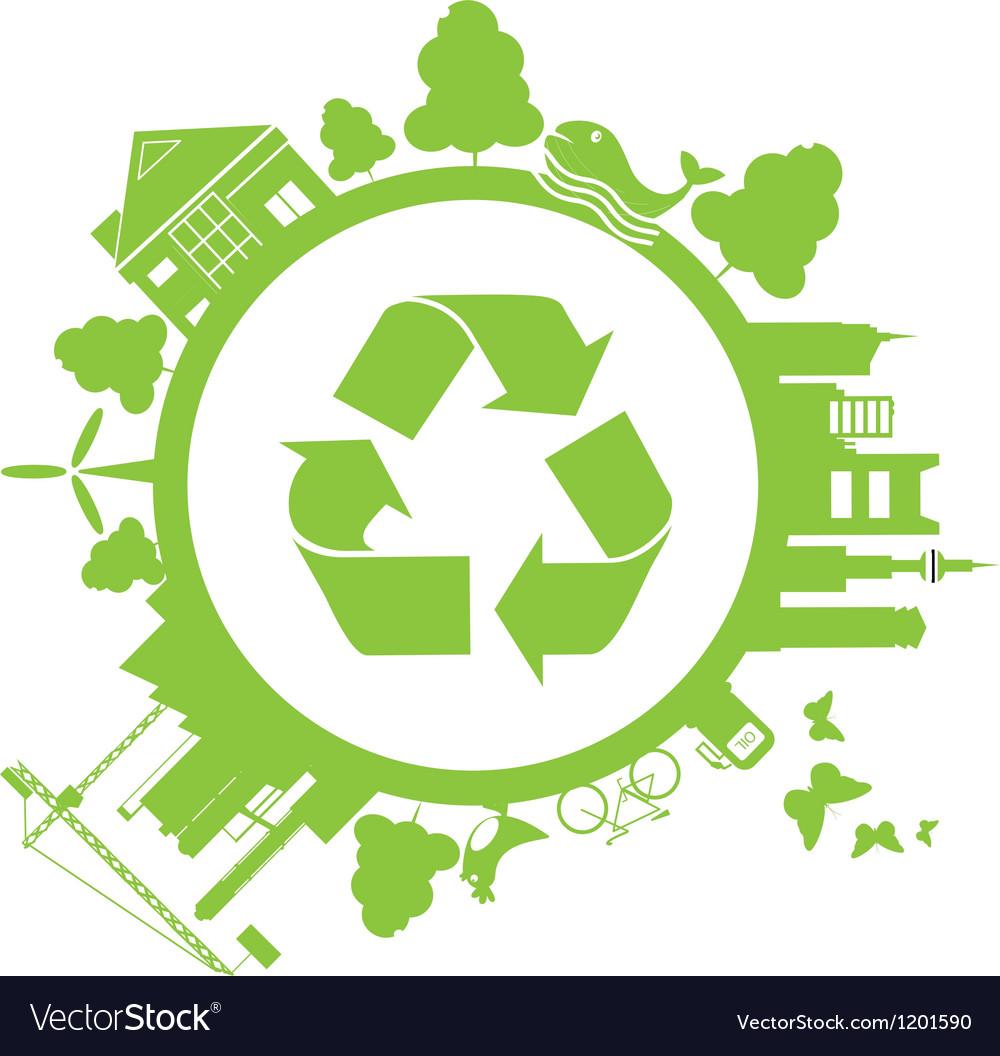 Save green vector