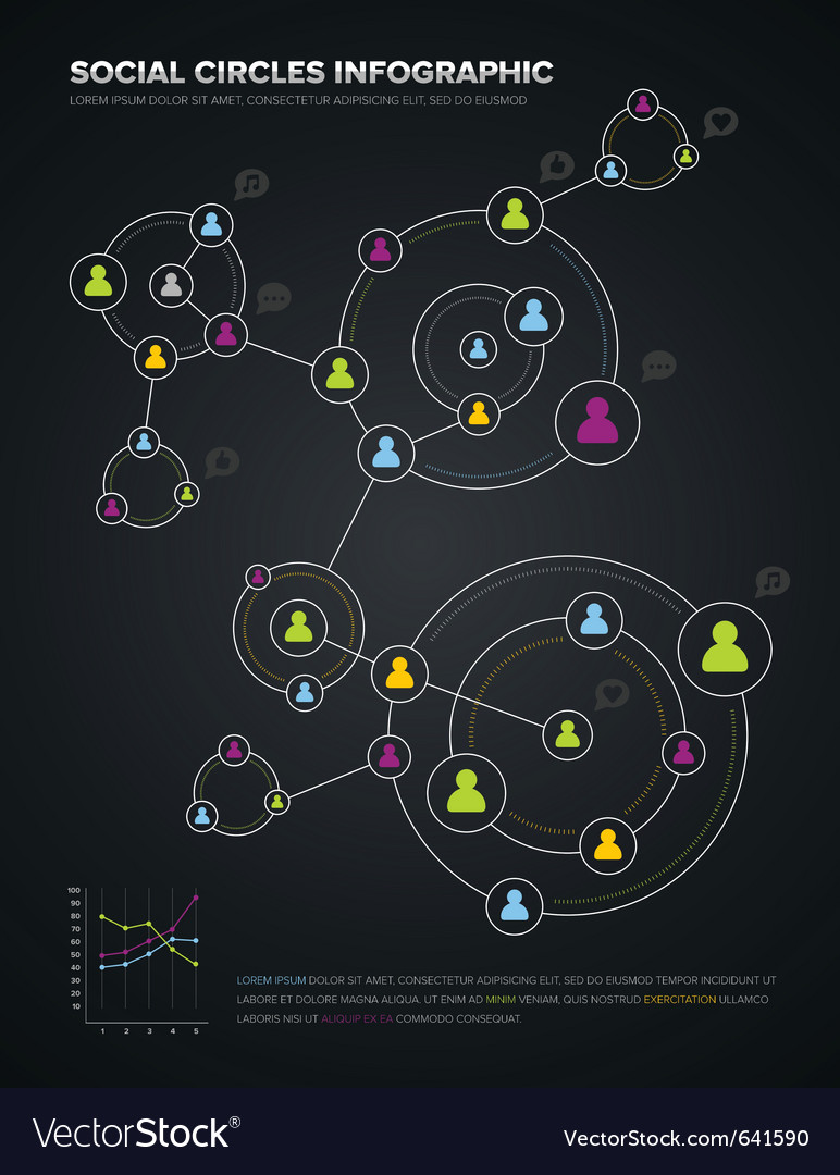 Social circles infographic vector | Price: 3 Credit (USD $3)