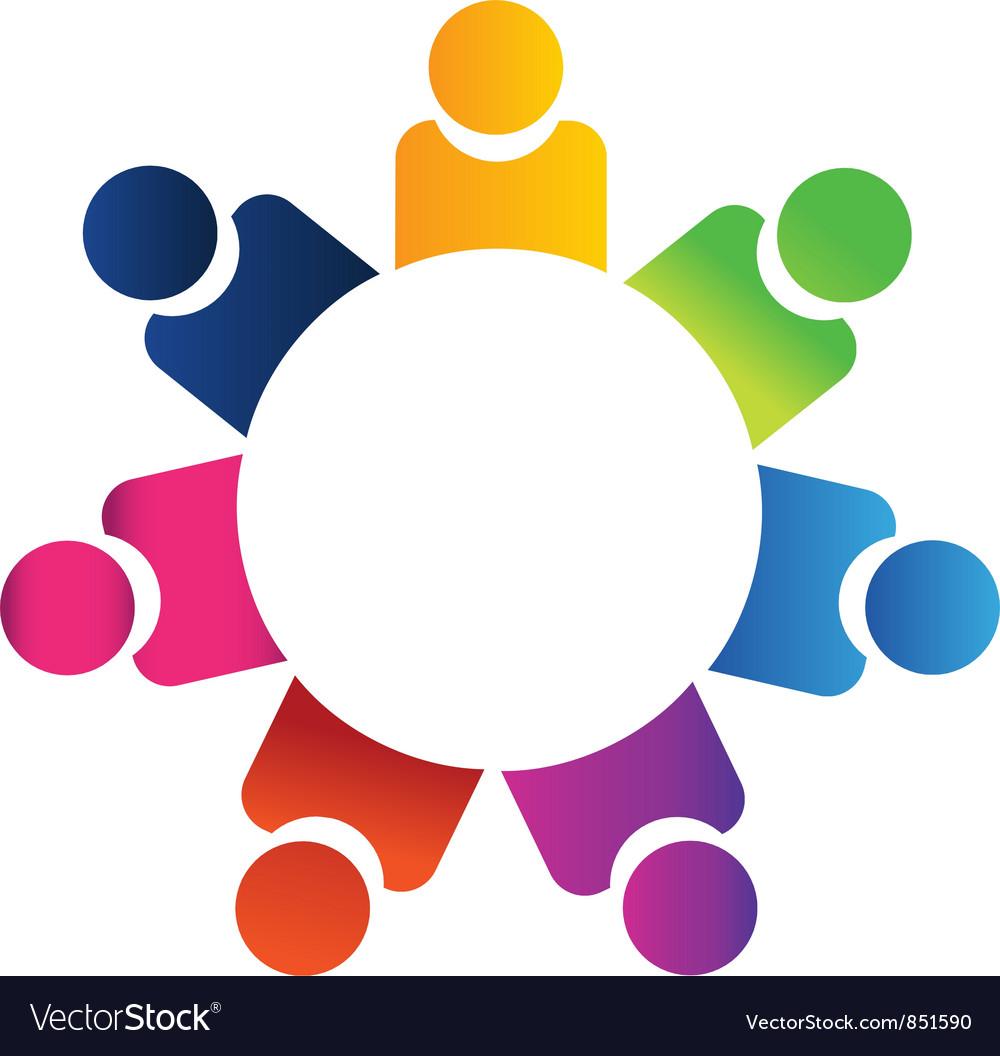 Teamwork business logo vector | Price: 1 Credit (USD $1)