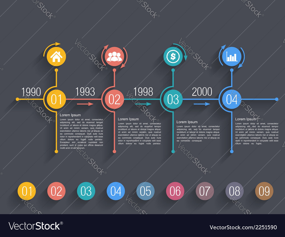 Timeline design template vector | Price: 1 Credit (USD $1)