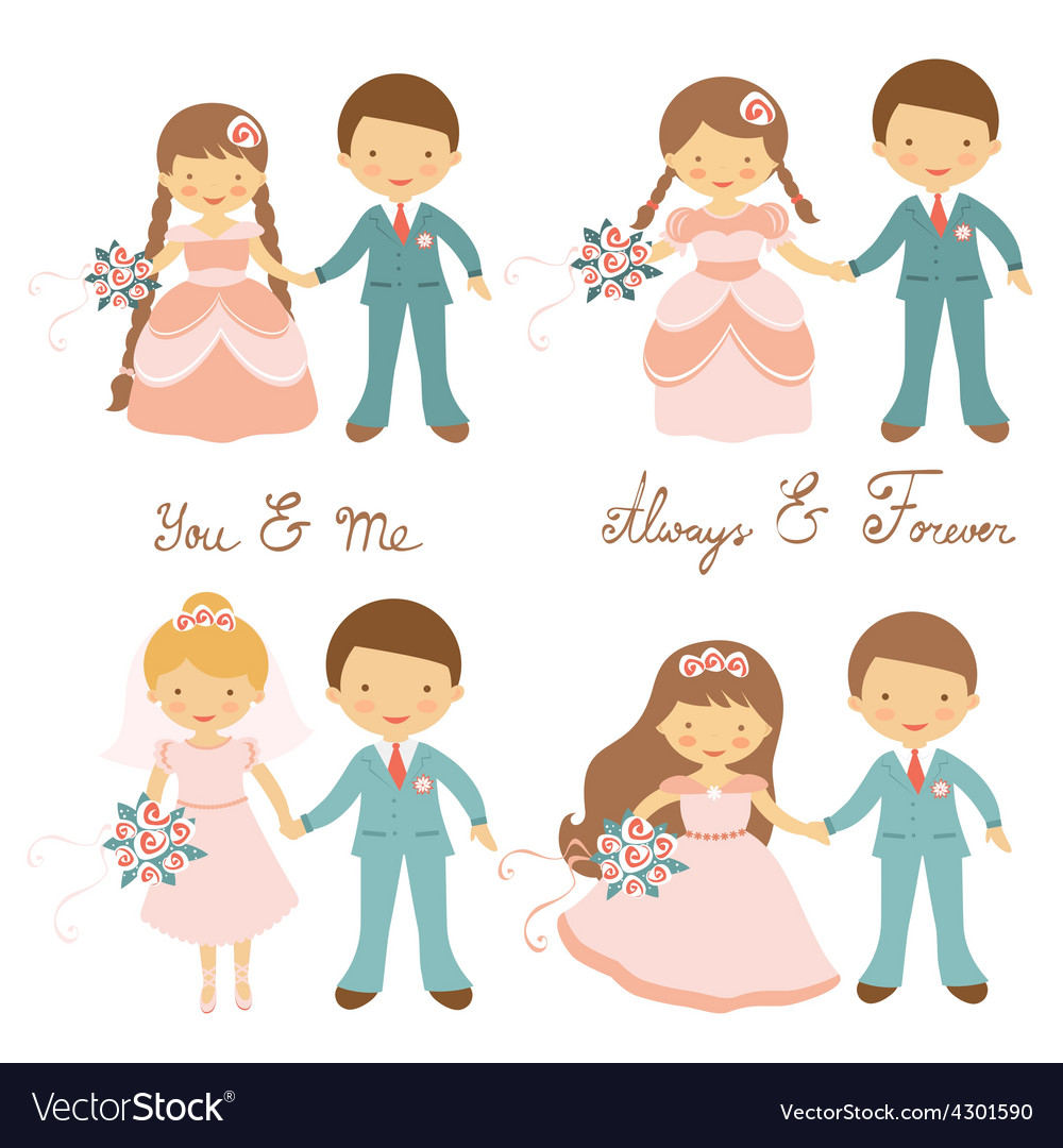 Wedding couples set vector | Price: 1 Credit (USD $1)