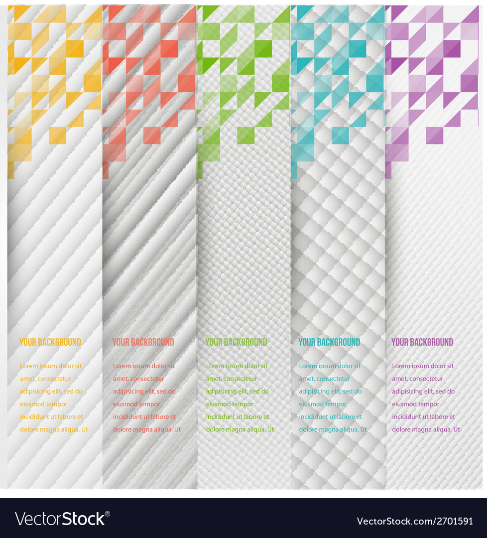 Abstract triangle template banner color set vector | Price: 1 Credit (USD $1)