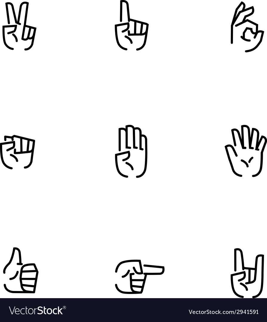 Arms stroke icons vector | Price: 1 Credit (USD $1)