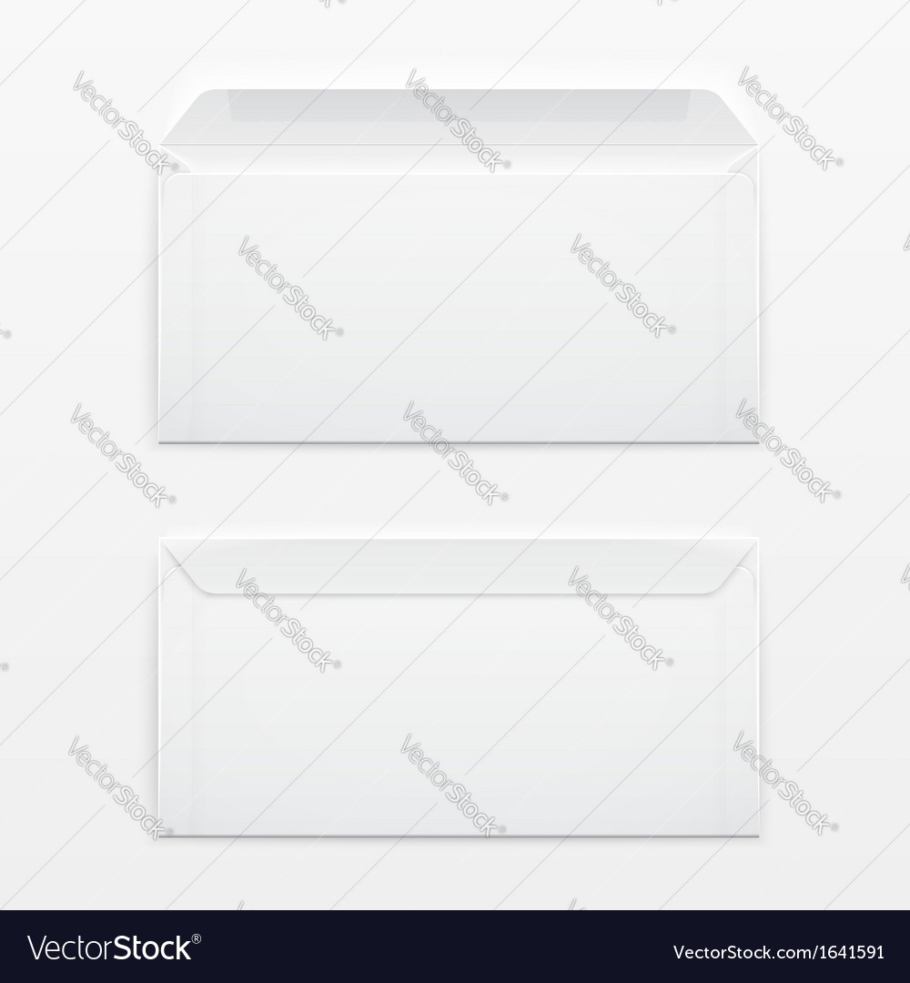 Blank envelopes on gray background vector | Price: 1 Credit (USD $1)