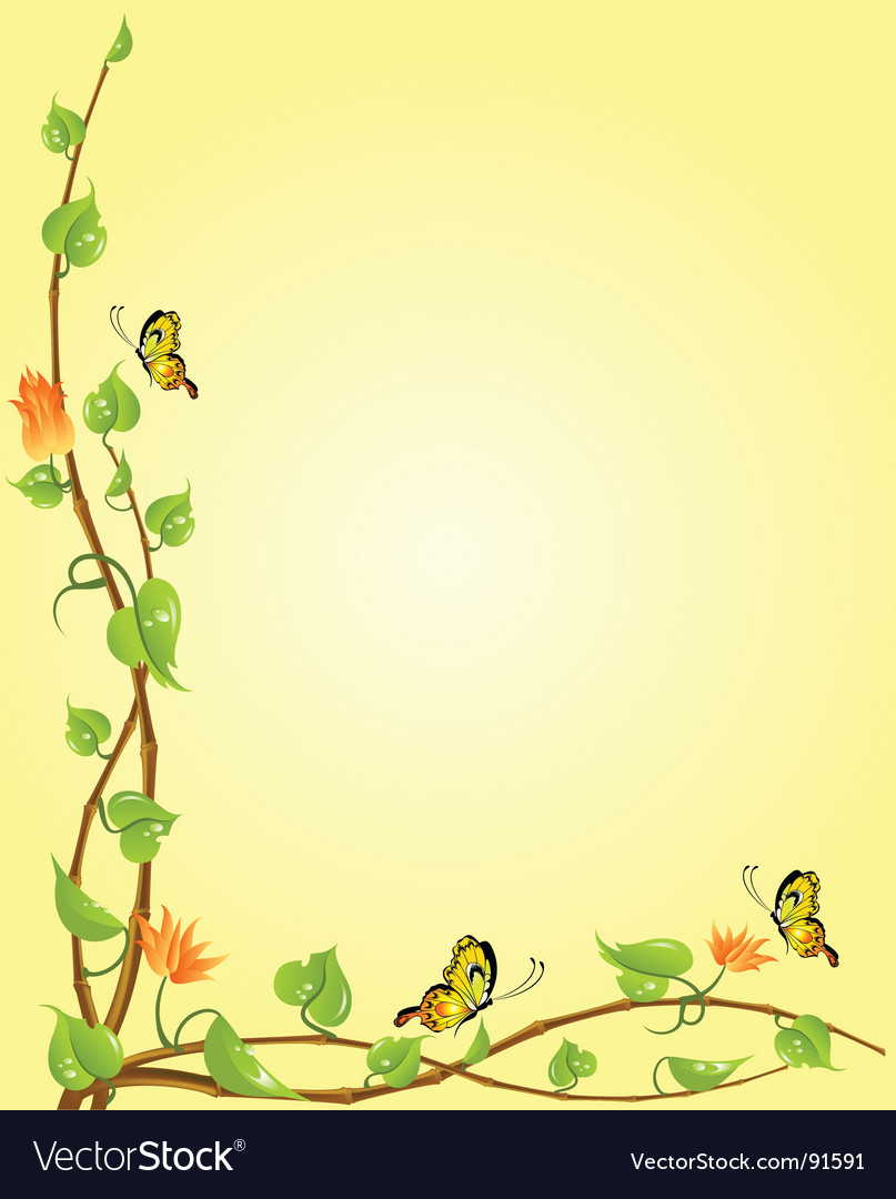 Butterfly boarder vector | Price: 1 Credit (USD $1)
