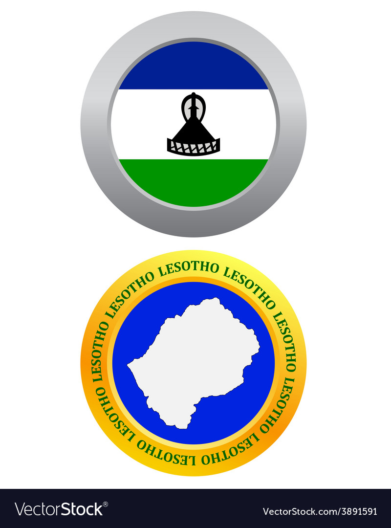 Button as a symbol lesotho vector | Price: 1 Credit (USD $1)