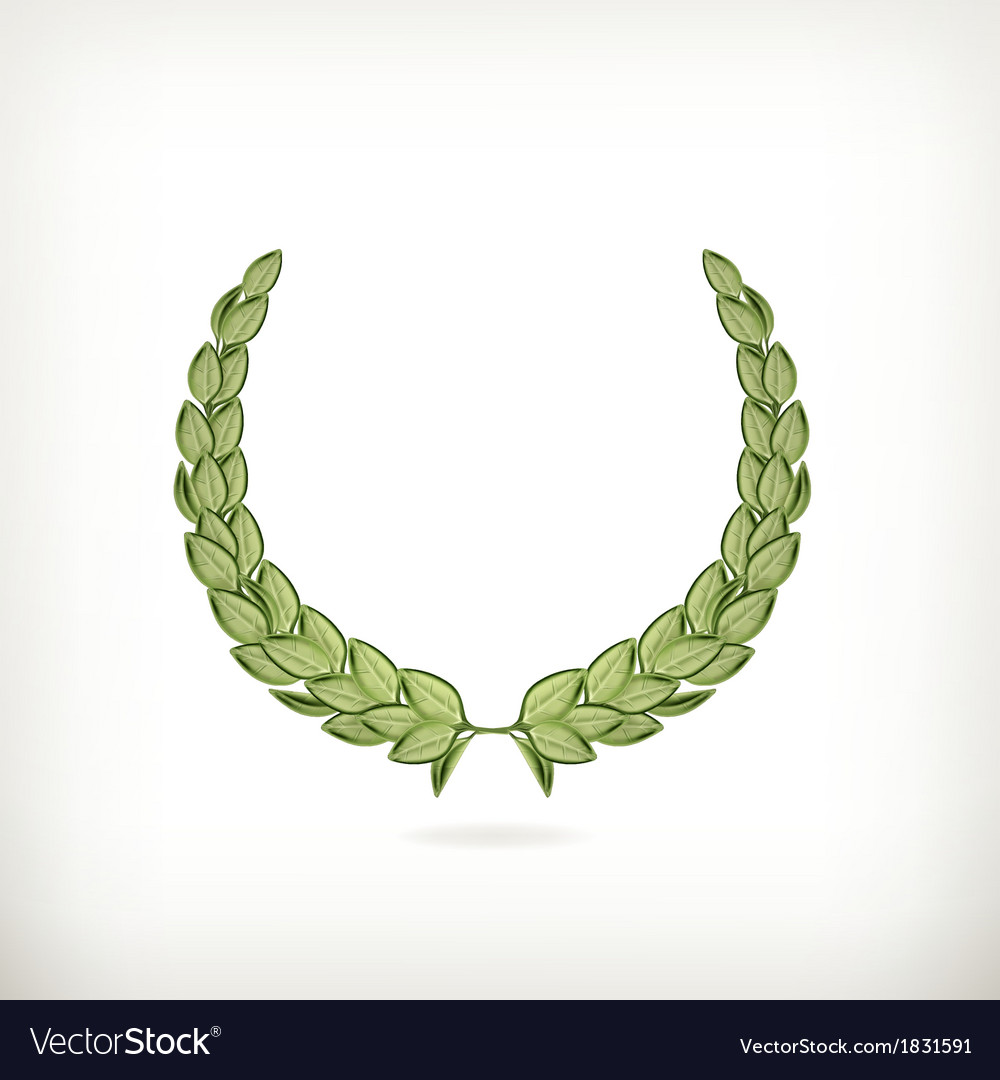 Laurel wreath green vector | Price: 1 Credit (USD $1)