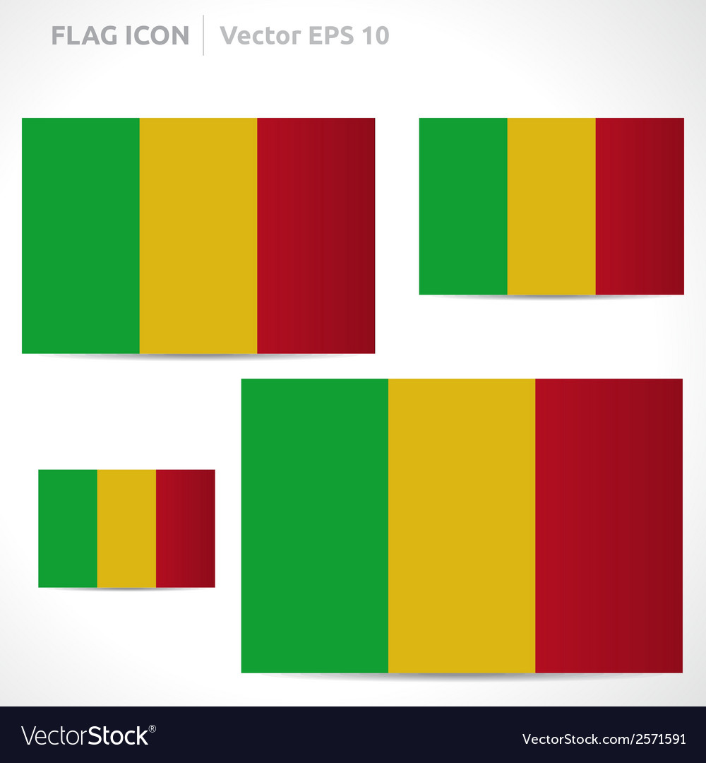 Mali flag template vector | Price: 1 Credit (USD $1)