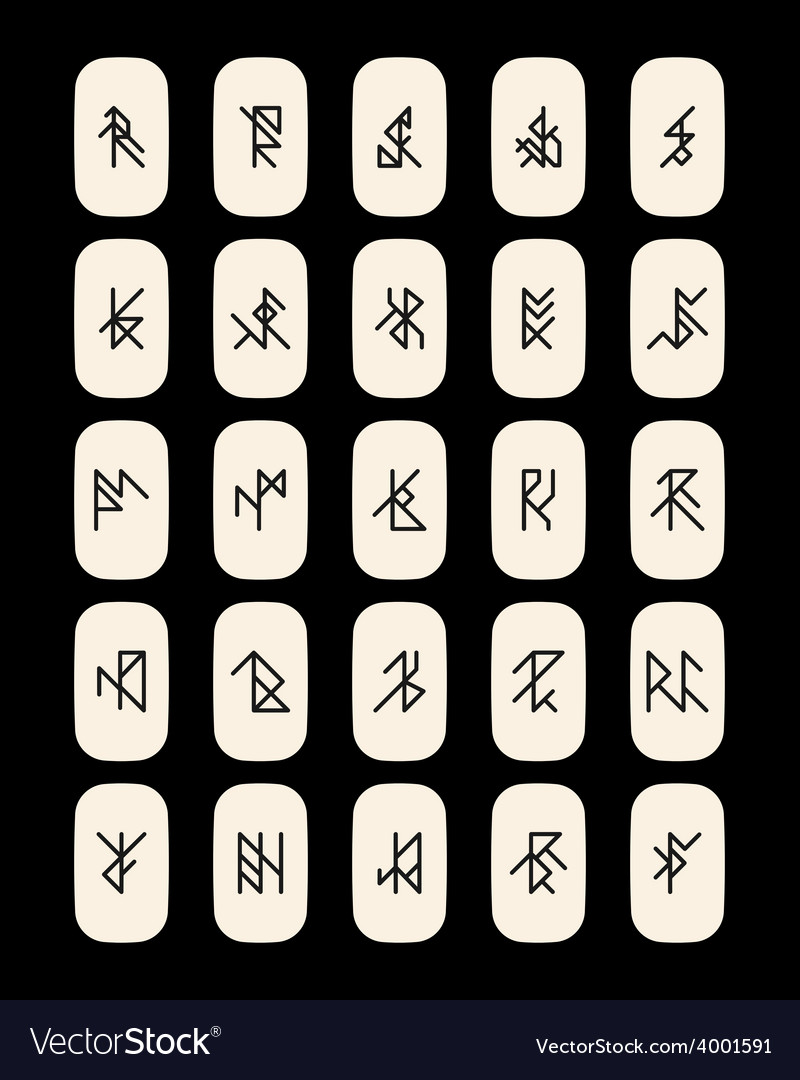 Set of abstract ancient runes vector | Price: 1 Credit (USD $1)