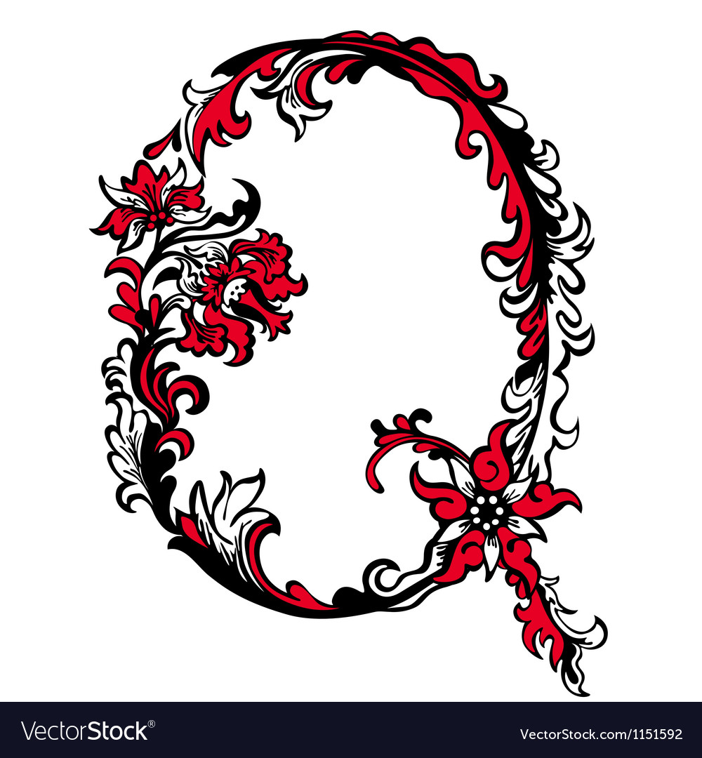 Abstract letter q vector | Price: 1 Credit (USD $1)