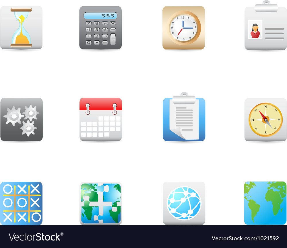 Business and office square icon vector | Price: 1 Credit (USD $1)