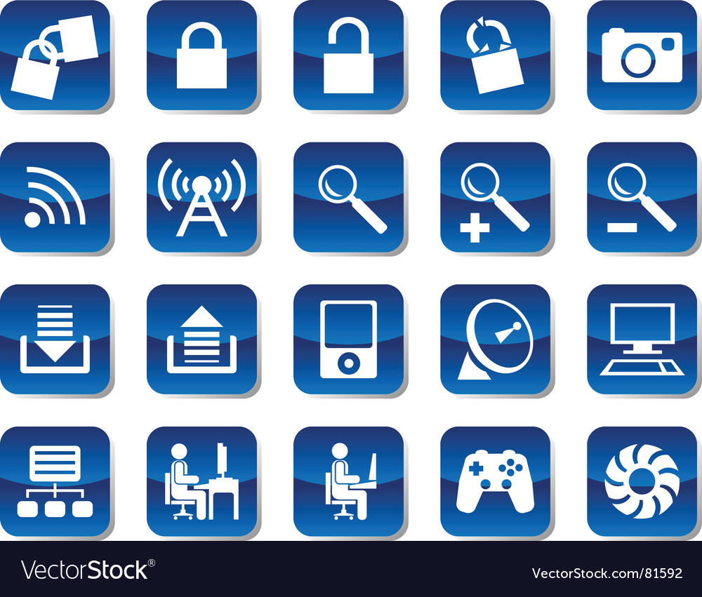 Computer and electronic icons vector | Price: 1 Credit (USD $1)