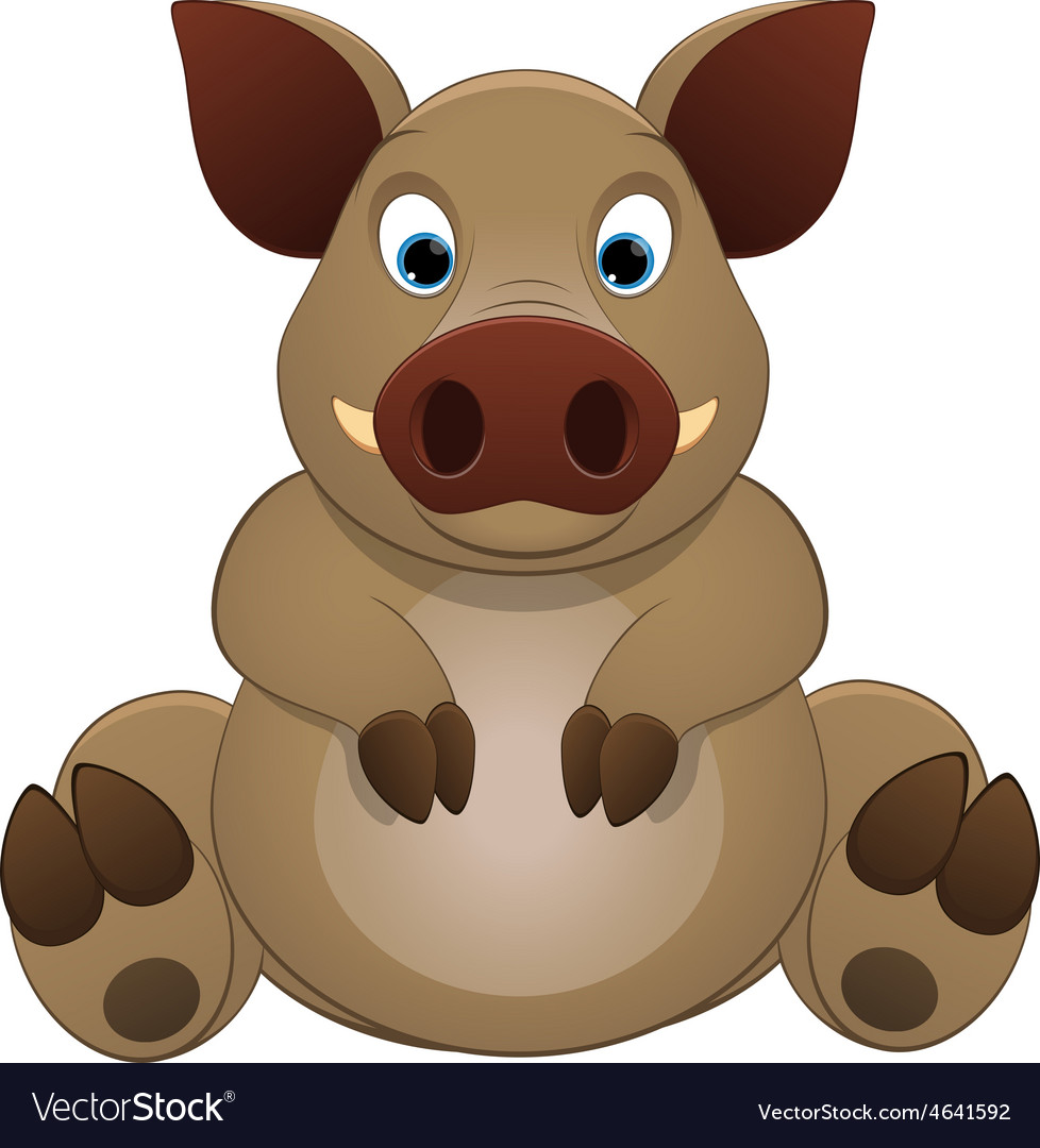 Cute little hog vector | Price: 1 Credit (USD $1)